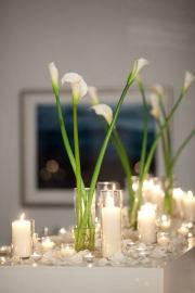 simple... love it: Idea, Calla Lilies, Candles, Calla Lilly, Artstarphotographi Com, Centerpieces, Artstarphotography Com, Calla Lily, Center Pieces