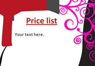 Hairdressers Role-Play Price List