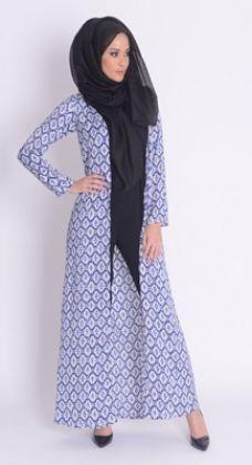 Aztec Blue Maxi Kimono #Style #Fashion #Abaya #Hijab #Womensfashion http://www.aabcollection.com/shop/product/aztec-blue-maxi-kimono/718