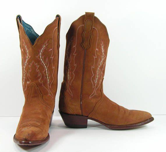 b8445b67087 vintage cowboy boots women's 7.5 M B brown leather suede | Shop Our ...