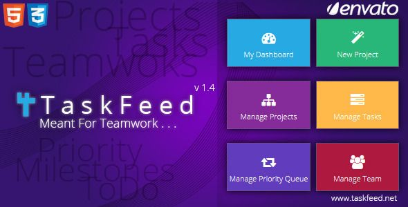 Taskfeed Project Management Software . Taskfeed has features such as High Resolution: Yes, Compatible Browsers: IE8, IE9, IE10, Firefox, Safari, Opera, Chrome, Software Version: PHP 5.3, MySQL 5.x