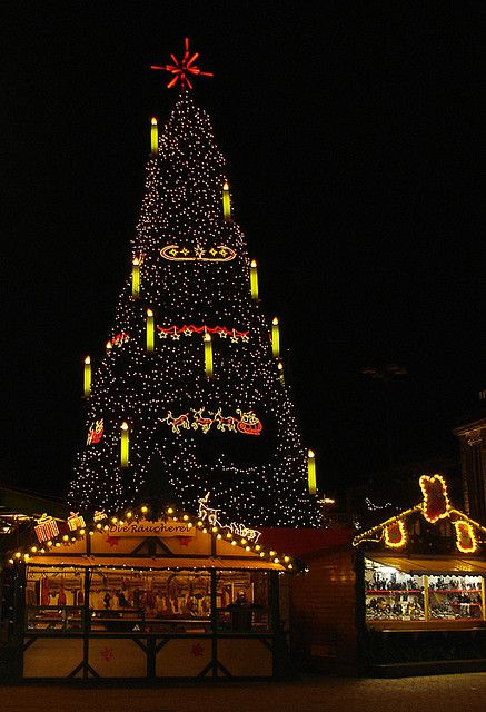 Beautiful Christmas tree in Dortmund,it is the biggest Christmas tree in the world.  http://www.flickr.com/photos/pe_ha45/311252095/