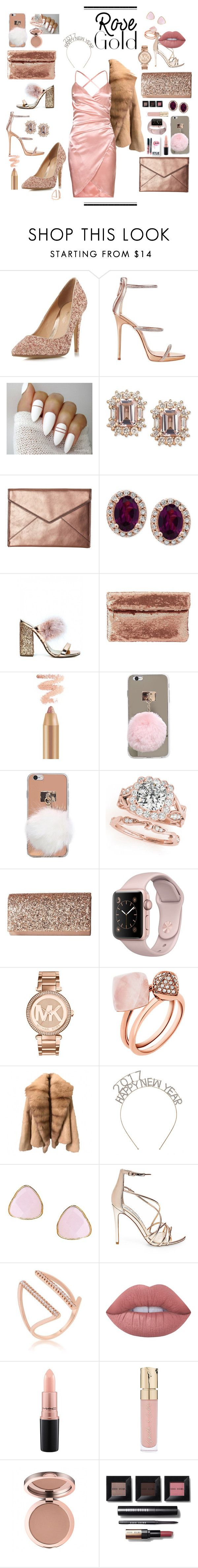 Russé Gold by bri-n-ani-official ❤ liked on Polyvore featuring Kylie Cosmetics, Head Over Heels by Dune, Giuseppe Zanotti, Rebecca Minkoff, Effy Jewelry, Charlotte Russe, Jessica McClintock, Michael Kors, Ottoman Hands and Steve Madden