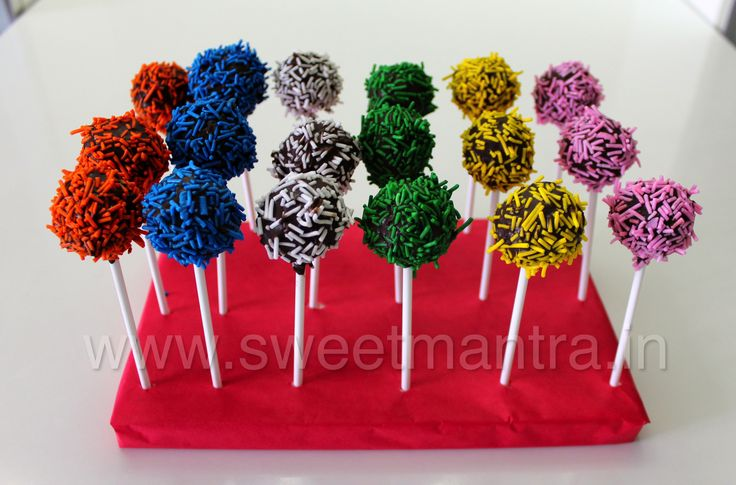 Homemade Eggless birthday party Cake Pops for a kids bday party at Wakad, Pune