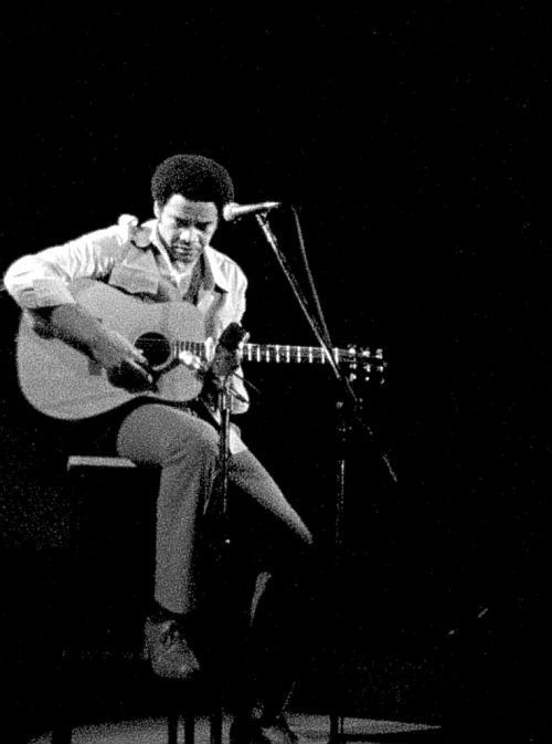 Bill Withers. ain't no sunshine when she's gone.