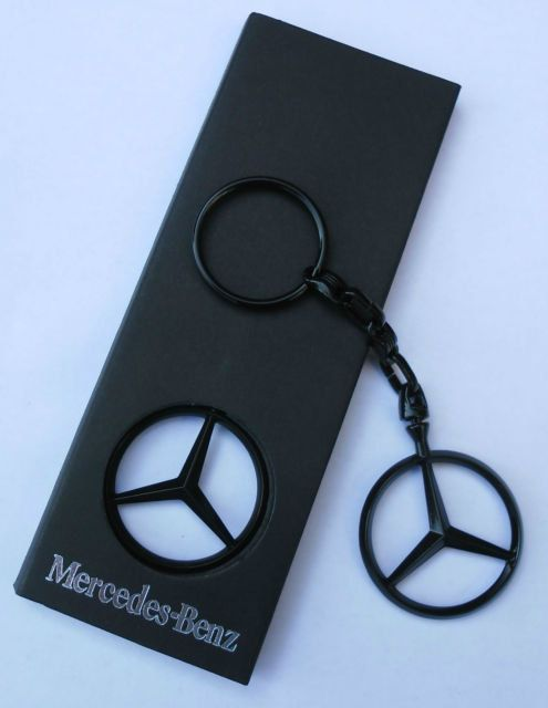 Mercedes Benz Black Merc Gold Tone Silver Chrome Enamel hand coated keyring Keyfob keychain Made from high quality base metal die cast parts