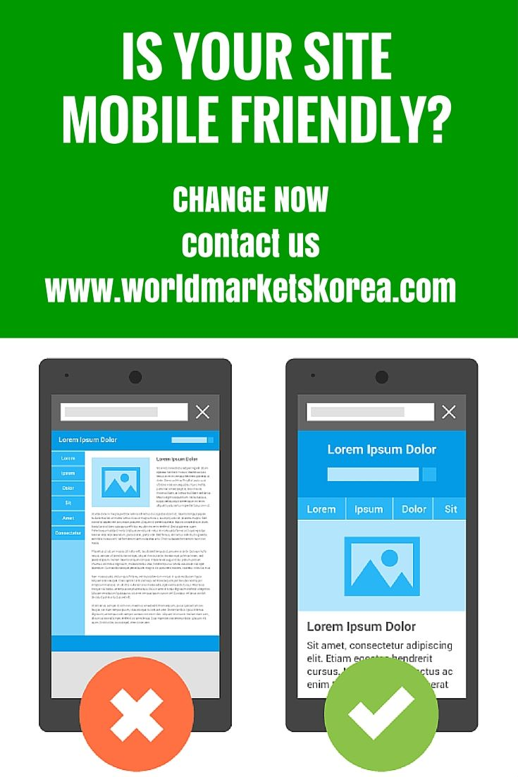 To be favored in a #Google search it is important that your site is #Mobile #Friendly. Get in touch so we can make your site work for you.  http://www.worldmarketskorea.com/services/web-design/