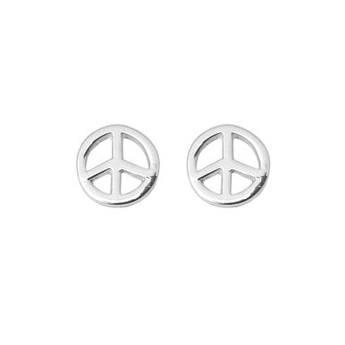 | Simple peace studs - in solid 925 sterling silver, a perfect pair of earrings for everyday wear | #earrings #handmade #peacestuds #peace #sterlingsilverstuds #handcraftedjewellery #handmade www.pinchandfold.com