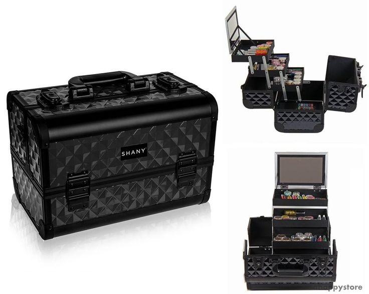 SHANY Professional Cosmetic Train Case Organizer Black Makeup Box Beauty Travel #SHANYCosmetics