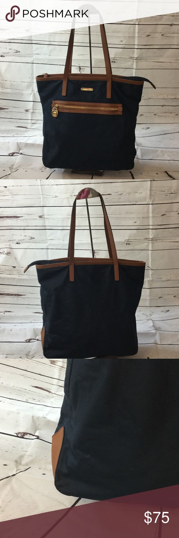 Michael Michael Kors Kempton Large Nylon Tote Bag Michael Michael Kors Kempton Large Nylon Tote Bag in Navy blue. In good condition (minor flaws pictured) Michael Kors Bags Totes