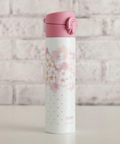 Thermos-Stainless-Slim-Bottle-Tumbler-400ml-Sakura-White-Afternoon-Tea-Japan