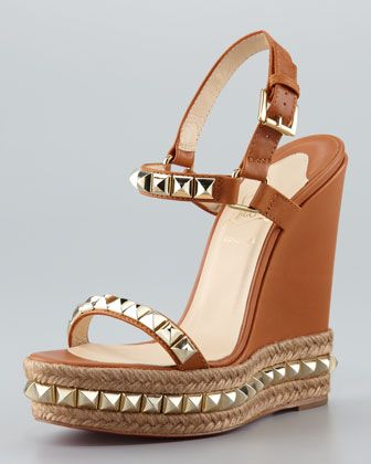 Cataclou Espadrille Wedge, Brown by Christian Louboutin at Neiman Marcus.