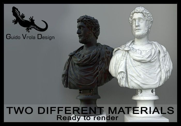 Detailed Commodus Emperor Bust 3D model by Guido Vrola Design on CGTrader.