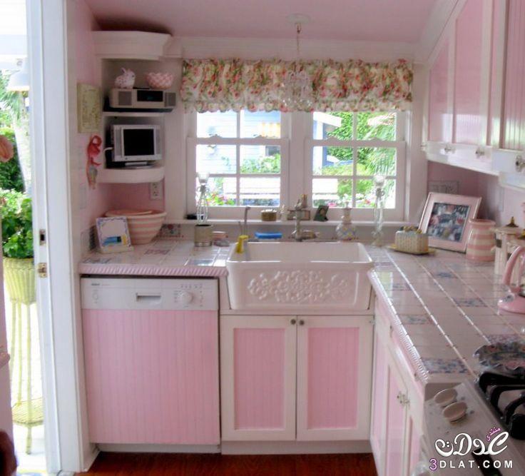 تصاميم مطابخ حديثة بسيطة 2020 مطابخ للمساحات الصغيرة ديكورات مطابخ صور مطابخ اجنبية Retro Pink Kitchens Pink Kitchen Chic Kitchen Decor