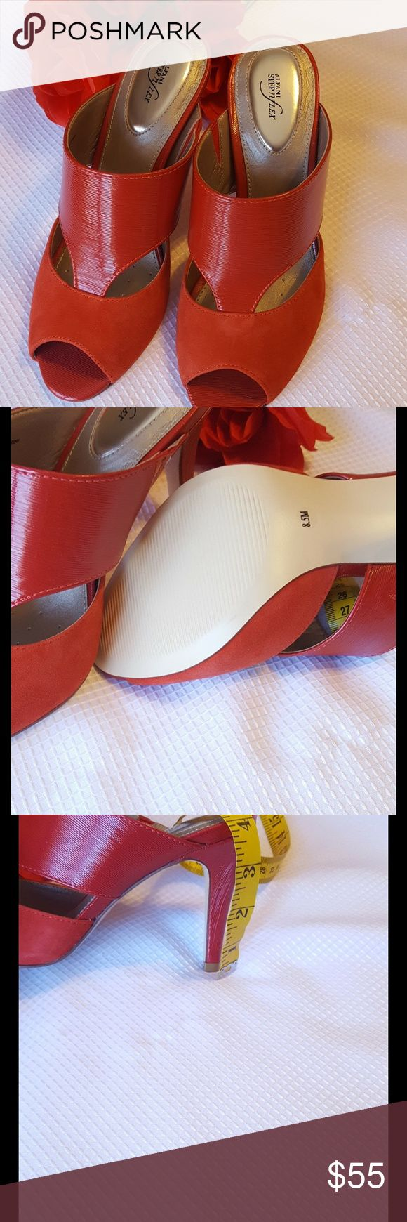 Alfani Step and Flex Ladies Shoes NWOT RED Alfani Step and Flex  Red Slip Ons Size 8.5 M Alfani Step and Flex Shoes Heels