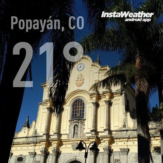 #Clima #PopayánCO  min: 14C max: 26C Mañana: Cielo Parcialmente Nublado Tarde: Cielo Parcialmente Nublado Noche: Cielo Parcialmente Nublado