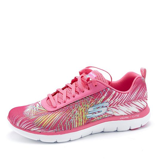 Skechers Tropical Breeze Lace Up Trainer with Air Cooled Memory Foam order online at QVCUK.com