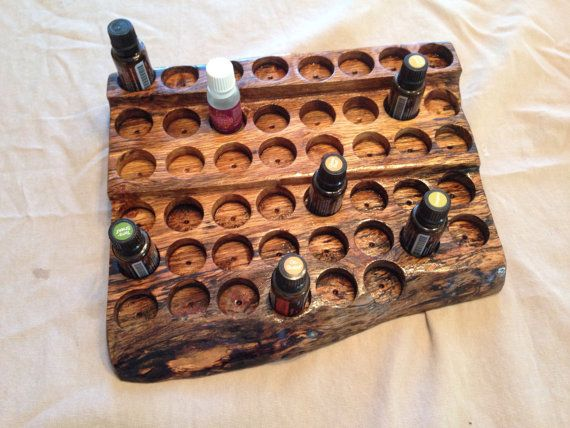 essential oil display from repurposed urban maple lumber