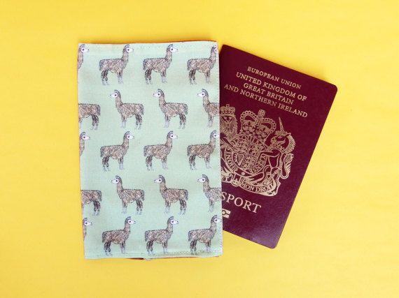 Llama passport holder  llama passport wallet  llama gift