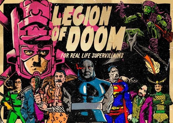 The Legion of Real Life Supervillains - I super cattivi della realtà in stile fumetto