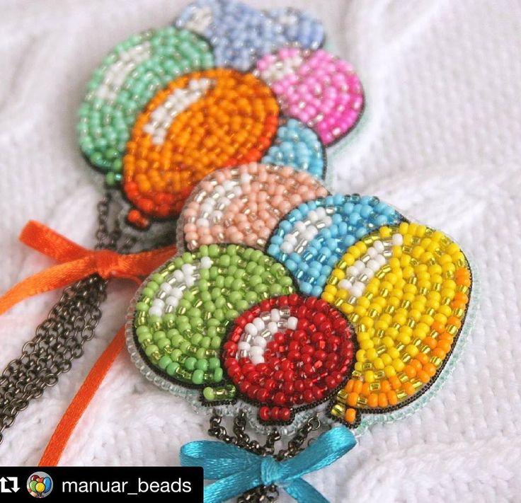 #Repost @manuar_beads (@get_repost) ・・・ Доброго дня, дорогие мои! Сегодня я, наконец, к вам с новыми шариками из stories. Расклад такой - шарики на заднем плане уехали в подарок, а насчёт вот этих юбилейных (25-х уже!!!) с красным шариком во главе, раздумываю. Ничего я вам, моим подписчикам, не дарила ещё. А тут новый год, подарки, все дела... Чувствую себя немножко жадиной. Решено! Разыграем шарики, НО! если желающих найдётся больше 40! Я хииитрая, прошу вас отписаться в коммент...