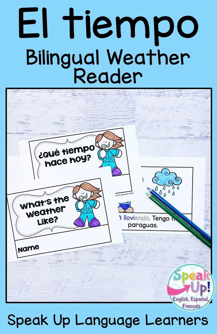 Que Tiempo Hace What S The Weather Like Readers Vocab