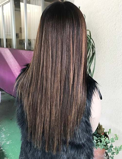 Chocolate Brown Hair With Highlights And Low Lights