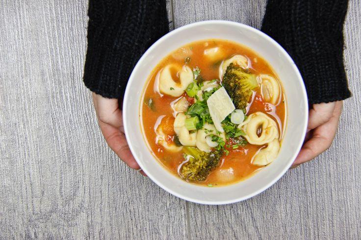 Soupe jardinière aux tortellinis