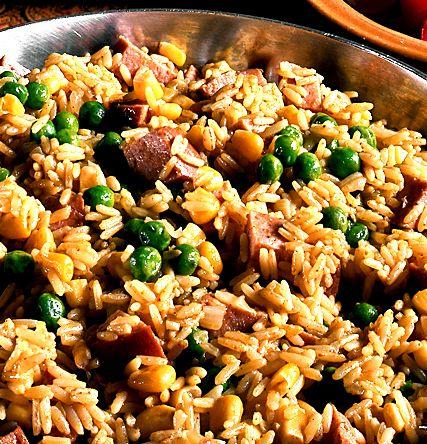 Risotto med falukorv majs och �rter | Recept.nu