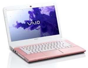 Sony VAIO E Series --- Anything but average, Sony's VAIO E Series 14 Laptop offers power, portability, perfect first class features.  Beautifully designed, distinctive wrap design, the Sony VAIO E Series 14 laptop (model SVE14135CXP) offers a full-size keyboard and large touch pad !  ♥