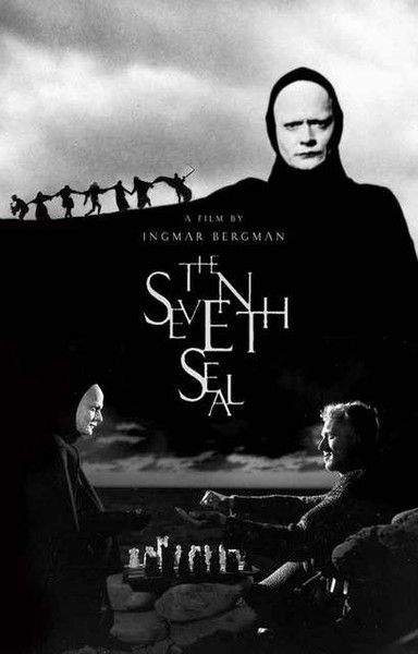 A great poster for the classic Ingmar Bergman movie The Seventh Seal starring Max on Sydow! Ships fast. 11x17 inches. Need Poster Mounts..?
