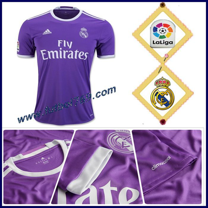Tienda Camiseta Del Real Madrid Alternativo Violeta 2016 2017 Oficial
