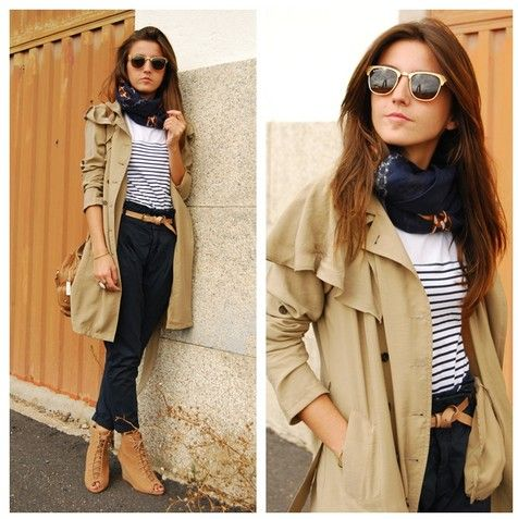 Zara. Zara. Everything Zara.: Rayban, Fall Coats, Fashion Design, Street Style, Ray Ban Outlets, Outfit, Stripes, Ray Ban Sunglasses, Trench Coats