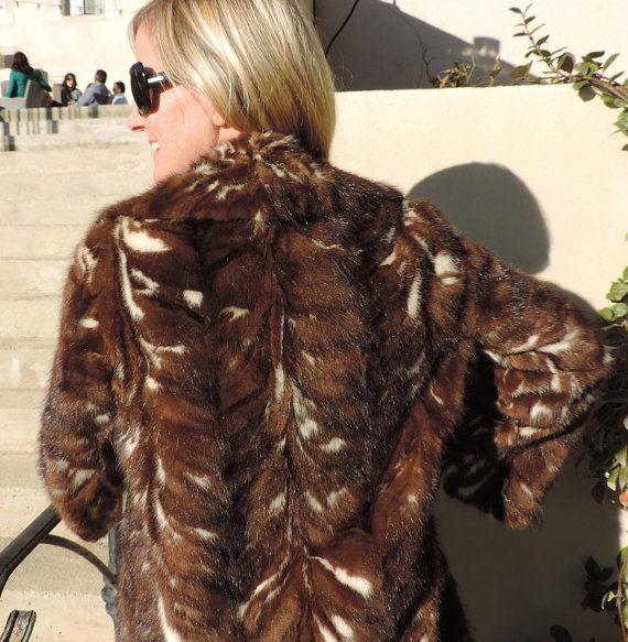 Louis Feraud fur coat U.S. size 12 UK 14 French 40 by Frenchidyll