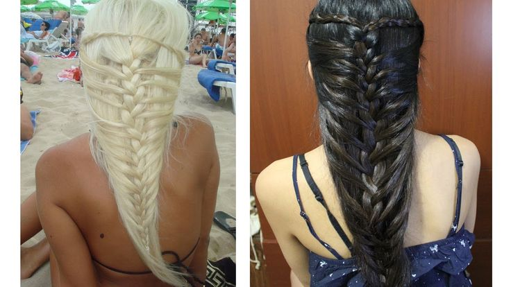 How to do mermaid French braid hairstyles for medium long hairs step by step DIY tutorial instructions, How to, how to do, diy instructions, crafts, do it yourself, diy website, art project ideas