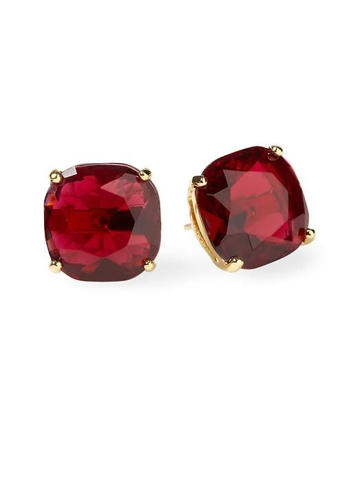 Square Stud Earring Red Bridesmaids Jewelry To Match You If Change Into Btw Is There Such Thing As Too Matchy At A Weddin Wedding Ideas Pinte