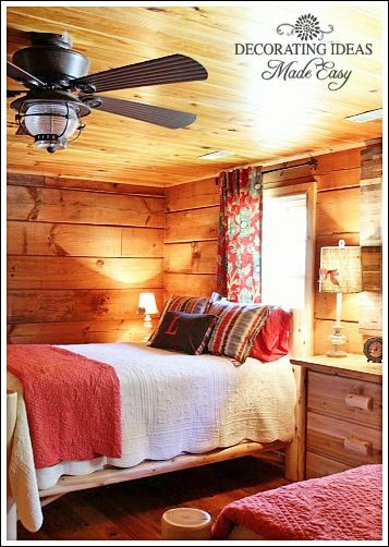 log cabin interior design see a guest bedroom makeover - Cabin Interior Design Ideas