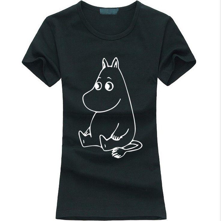 >> Click to Buy << Funny 2016 kawaii MOOMIN Cartoon Print T-shirt Women Cotton Casual Shirt For Lady fashion harajuku brand female t-shirt punk top #Affiliate