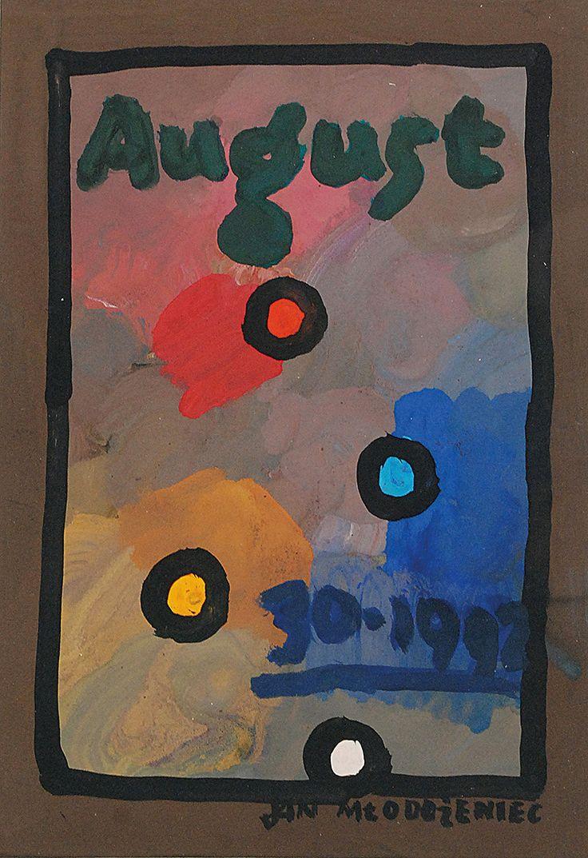 Jan MŁODOŻENIEC (1929-2000)  August gwasz, papier; 30 x 20 cm; sygn. p. d.: JAN MŁODOŻENIEC