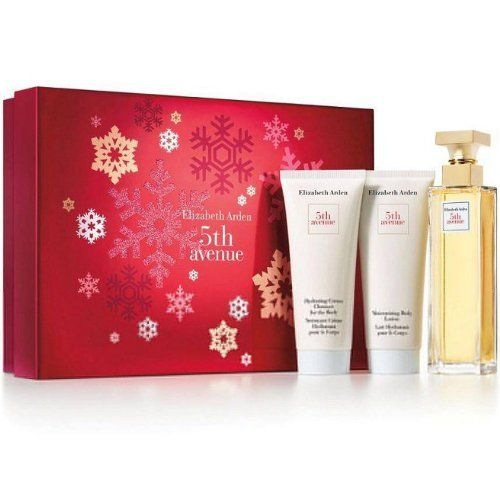 Elizabeth Arden 5Th Avenue Gift Set for Women (Eau De Parfum Spray, Lotion, Cream Cleanser) by Elizabeth Arden. $40.76. We offer many great sales and discounts making this fragrance cheaper than at department stores.. 3 Pc. Gift Set ( Eau De Parfum Spray 2.5 Oz + Body Lotion 3.3 Oz + Hydrating Cream Cleanser 3.3 Oz ) for Women. 5th Avenue Perfume for Women 3 Pc. Gift Set ( Eau De Parfum Spray 2.5 Oz + Body Lotion 3.3 Oz + Hydrating Cream Cleanser 3.3 Oz ). Packaging for this prod...