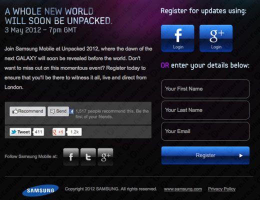 Samsung e Vodafone aprono le registrazioni per il nuovo Galaxy