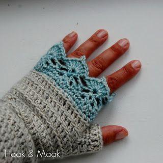 Haak & Maak: Polswarmers met een randje van kant haken