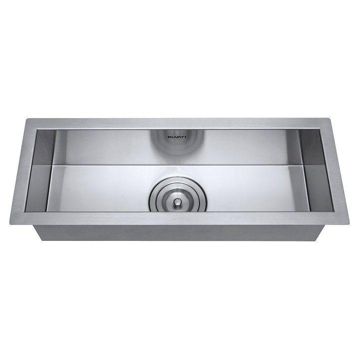 Ruvati Rvh7120 Nesta 23 X 8 Inch Narrow Trough Undermount 16 Gauge Bar Prep Sink In Stainless Steel 16 Gauge Bar Sink Prep Sink 14 Sink Prep Sink Bar Sink