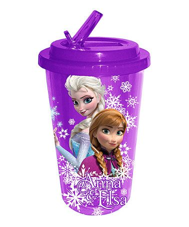Love this 20-Oz. Anna and Elsa Flip Straw Cold Cup by Frozen on #zulily! #zulilyfinds