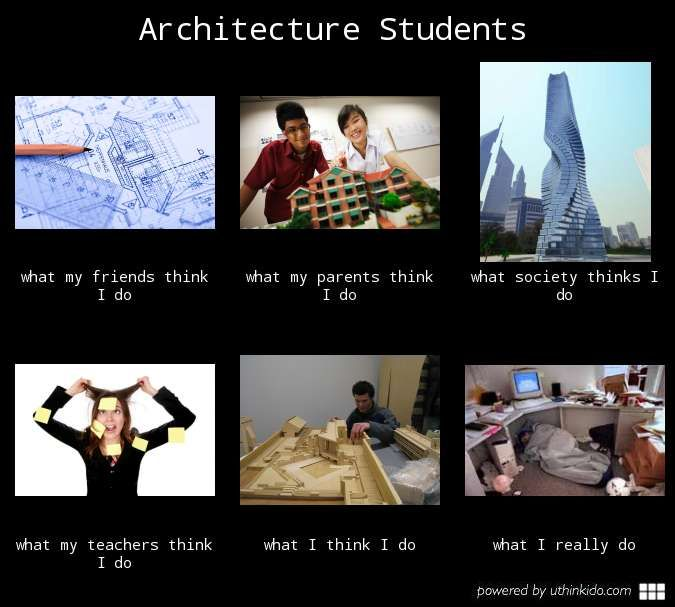 91 best arch student life images on pinterest for Architecture student