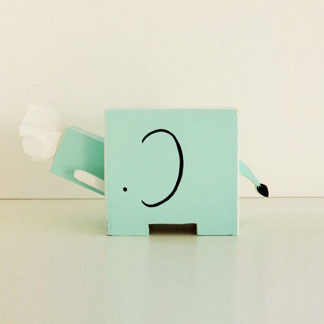 Elephant Tissue Holder