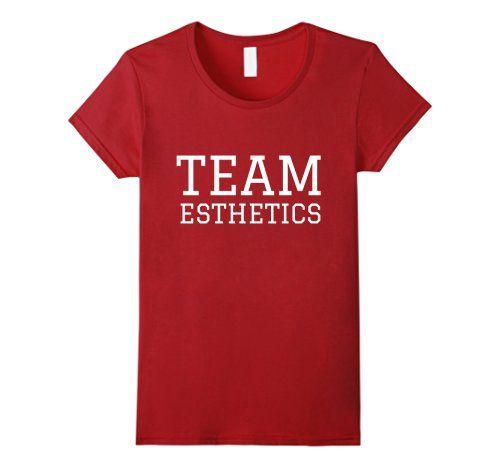 Womens Team Esthetics Cool shirts for Estheticians Valentine's Day nails uniform shirt for Esthetician gift for Esthetician