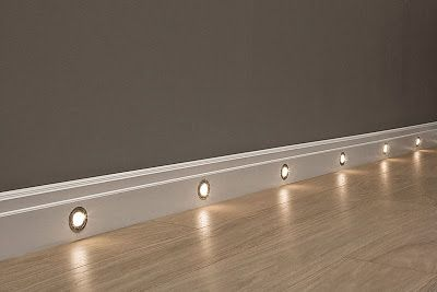 Hall or Basement Lights. I love this! I hate walking through the house when it's dark.