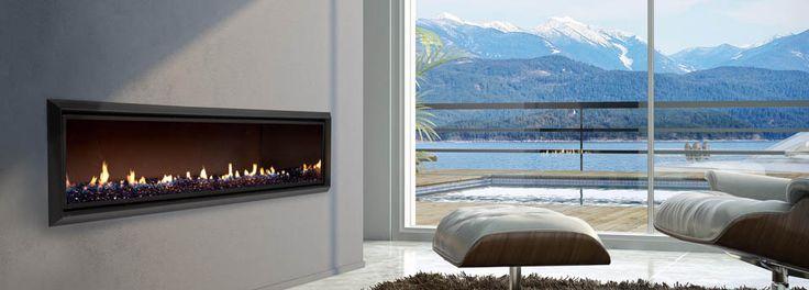 Escea DX1500 single-sided gas fireplace.