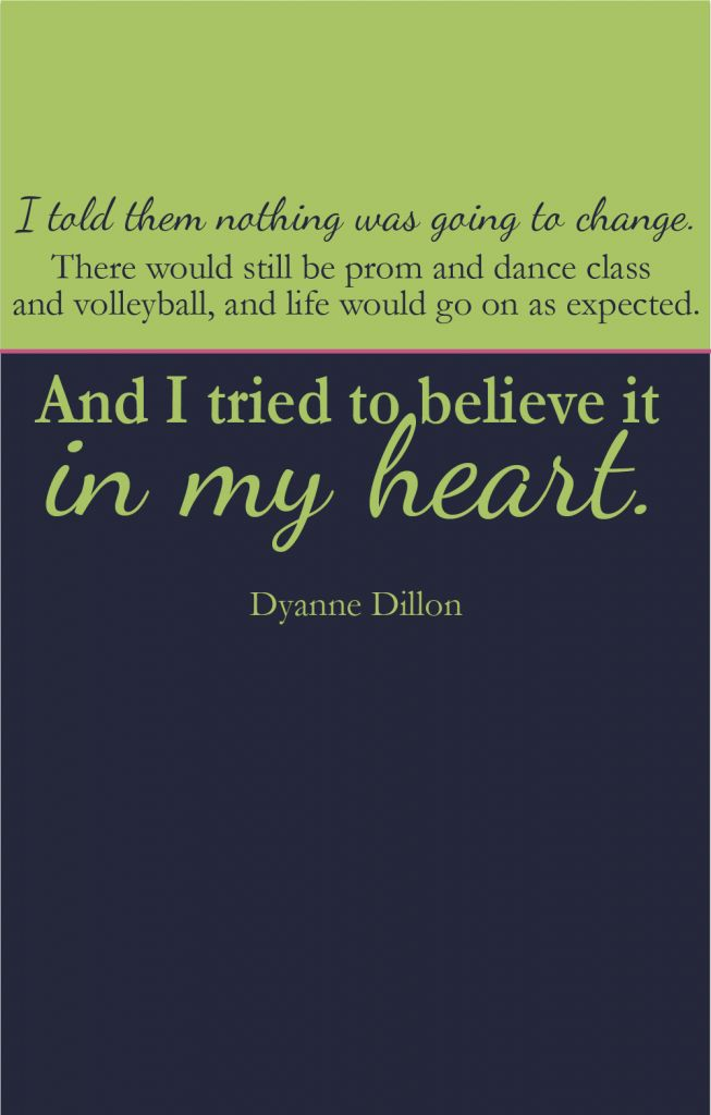 The Optimist: Dyanne Dillon  Bright, beautiful, glass half-full kind of girl shares her story about life post breast cancer.